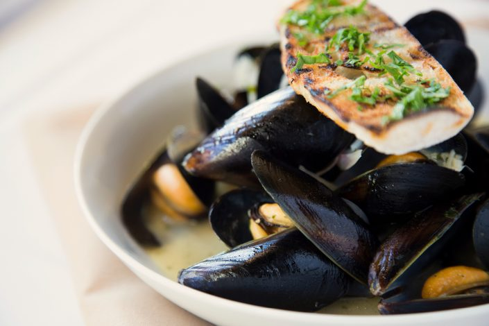 Steamed Mussels in cider